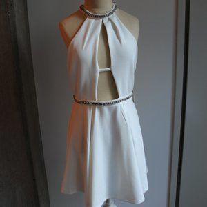 NWT Tobi Ivory Embellished Skater Dress